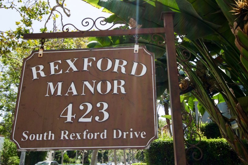 The sign announcing the Rexford Manor