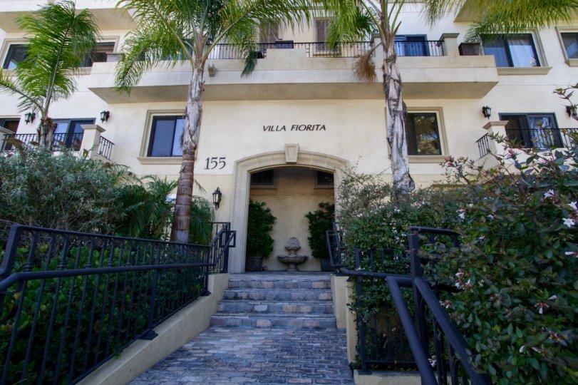 The entrance into the Villa Fiorita in Beverly Hills