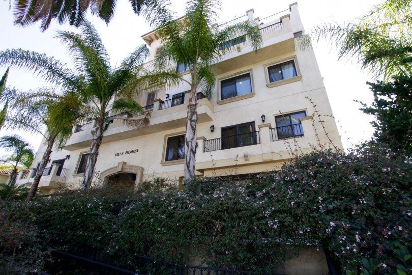 The balconies of the Villa Fiorita in Beverly Hills