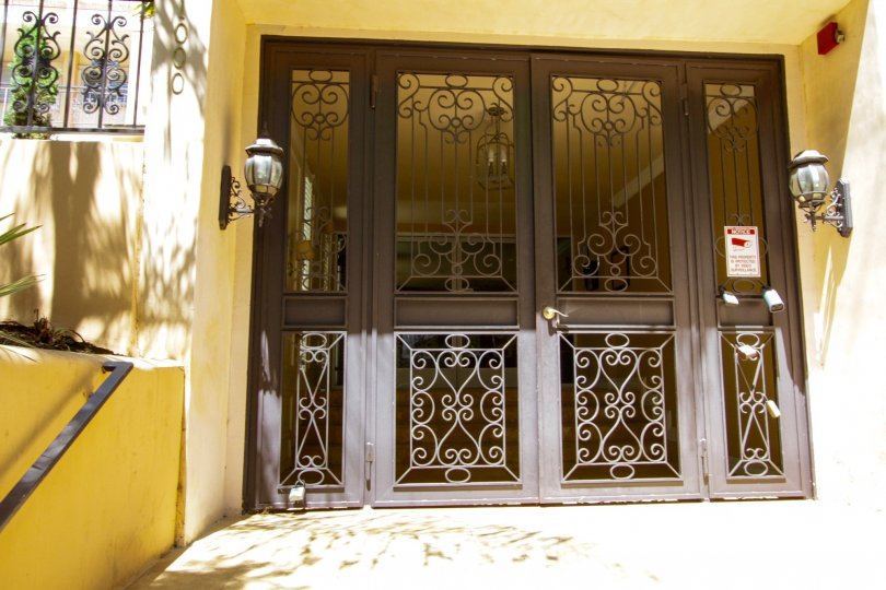 Gated entry to 1000 Westgate condos