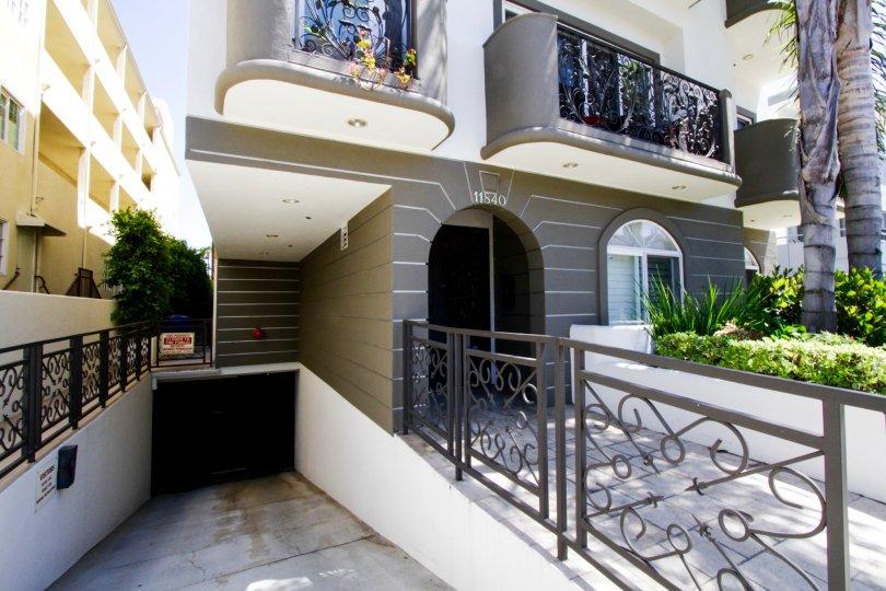 Gated parking entrance to Bellagio Villas Condos