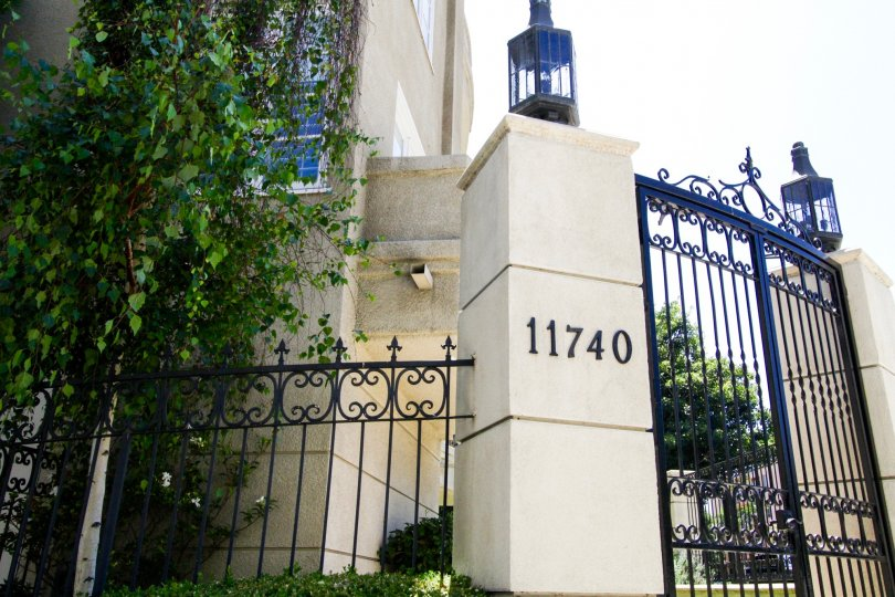 Gated condo entry to Beverly Court
