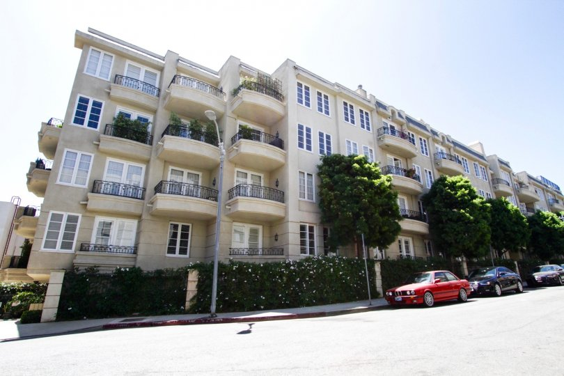 Beverly Court is a large and magnificent condo building