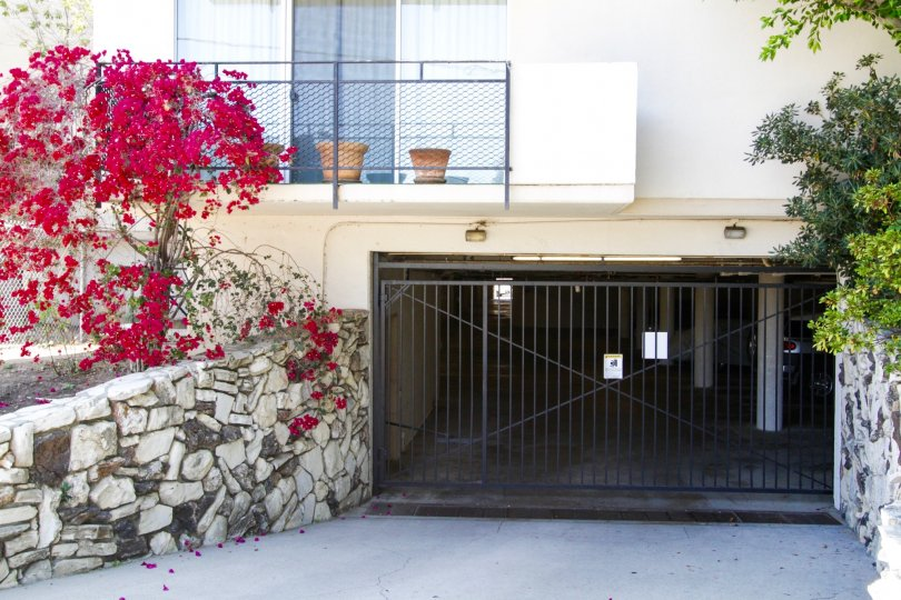 Subterranean parking entrance at Brentwood Sunset condos