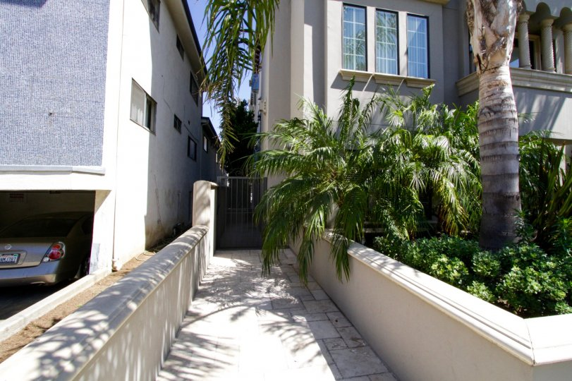 Sidewalk to side entrance of Casa Bella Villas