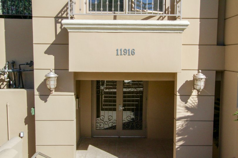 Address numbers for Gorham Villas above the front door