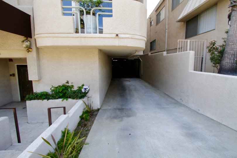 Private gated garage entrance at Kiowa Gardens condos