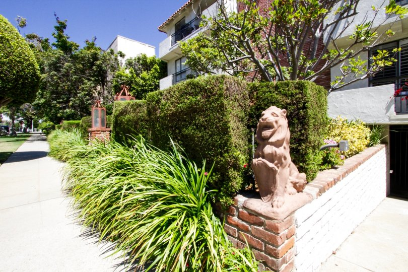 Lushly landscaped planters to the Las Leonas condos