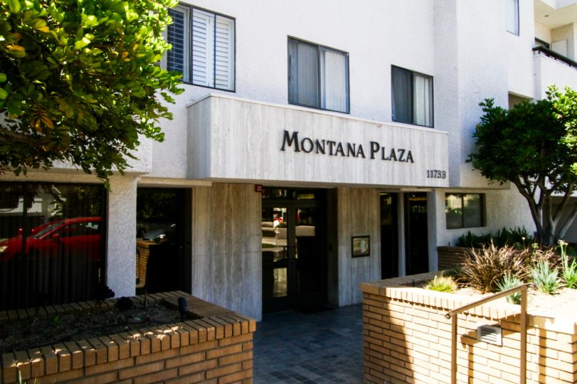 Montana Plaza marquee at entrance to the building