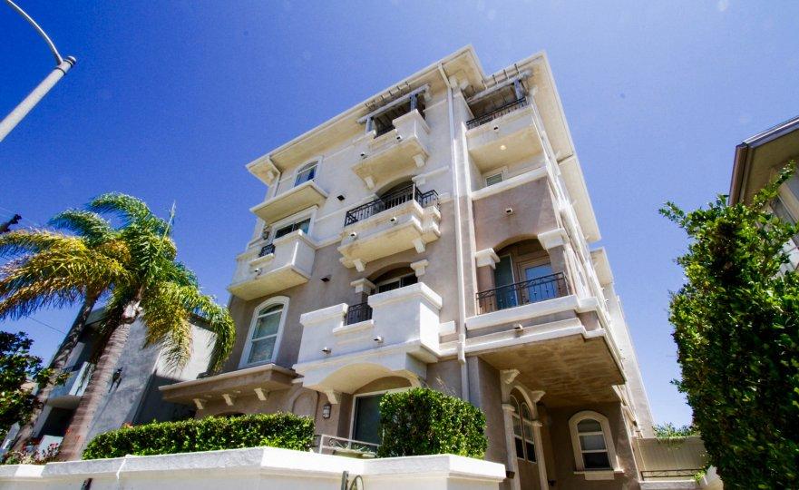 The Portofino is a midrise condo building in Brentwood
