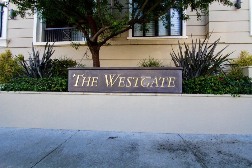 The Westgate marquee stands atop a raised planter
