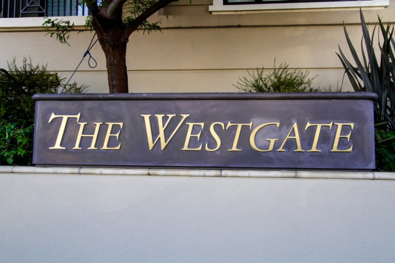 Plaque marquee at The Westgate entrance