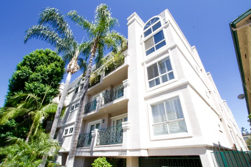 The Villa Monet is a midrise condo building in Brentwood
