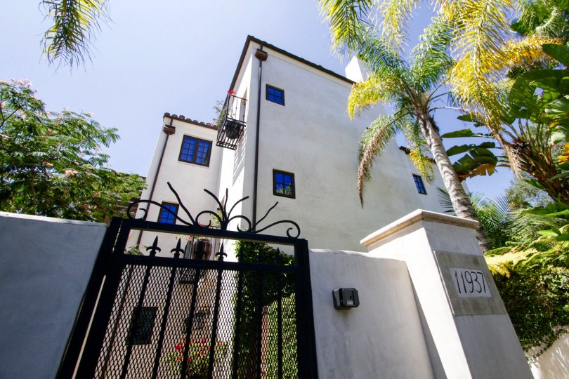 Gated entry to the Villas Del Encanto condos