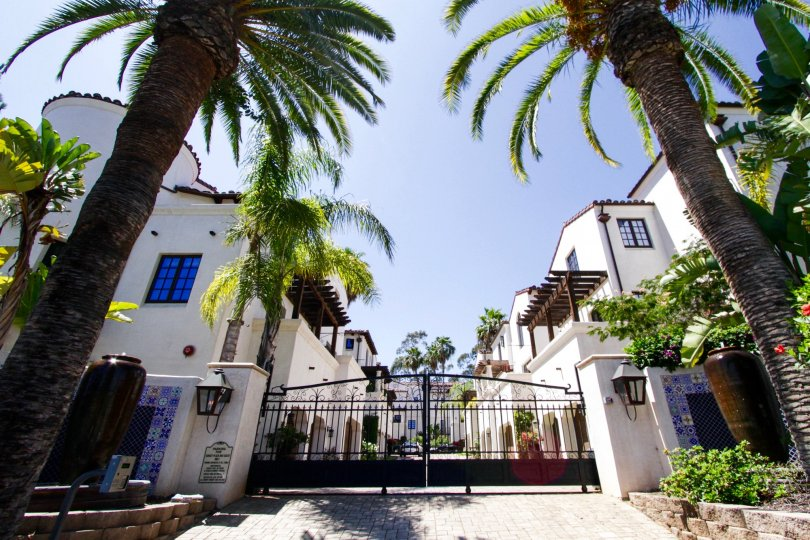Gated Entry leads to the private Villas Del Encanto condos