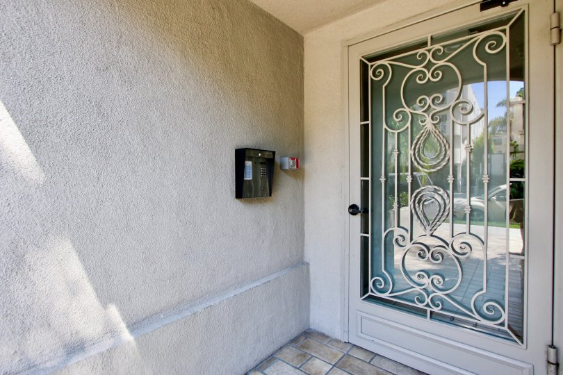 Security box by the front door at Brentwood Darlington in Brentwood California