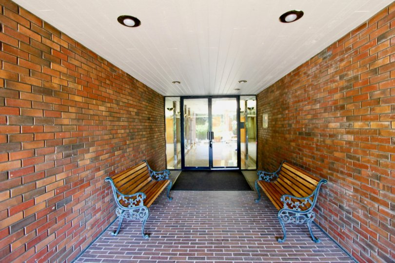A bright brick corridor in Bundy Brentana Community