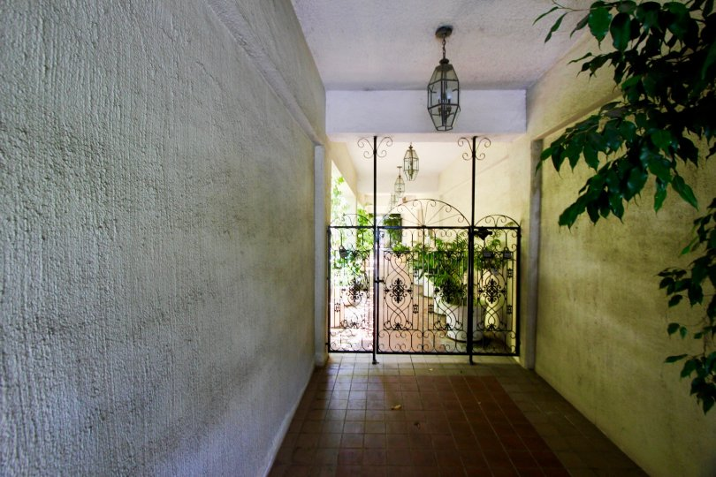 A cool, inviting entry way at the Coral Tree community.