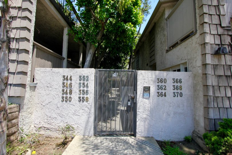 The outer gates of Parkview Terrance in Brentwood California