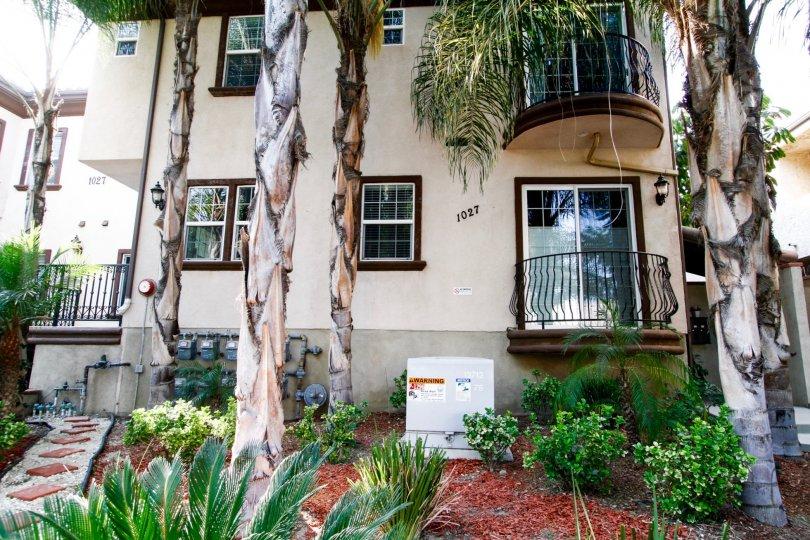 The balcony seen at 1027 W Angeleno Ave in Burbank California