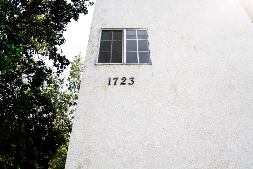 The address on the building at 1723 Landis St