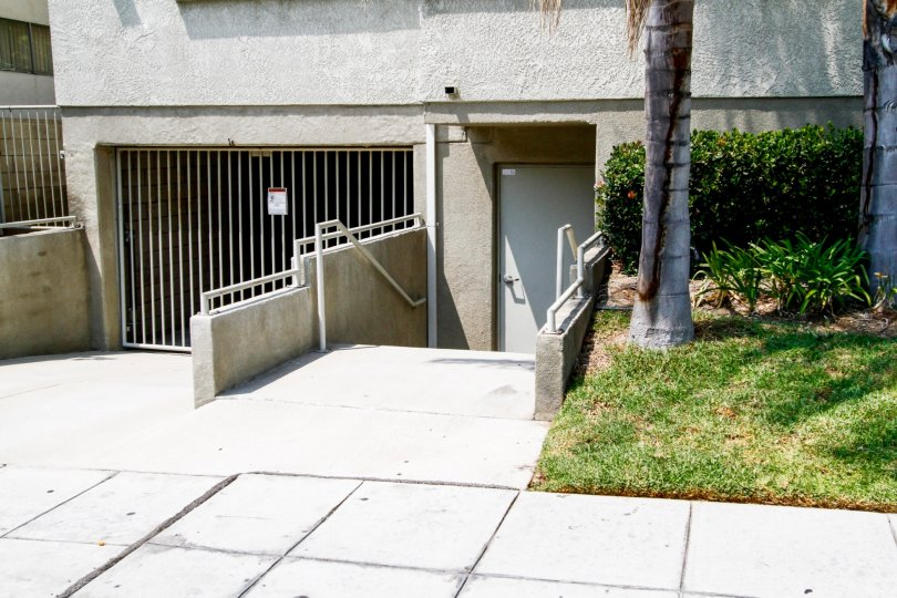 The stairs leading down into an entrance into 621 E Olive Ave