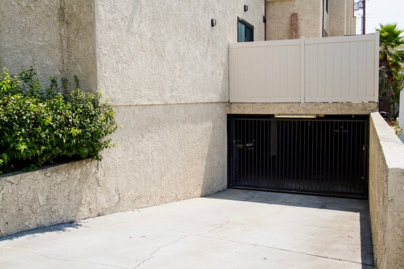 The parking for Angeleno Townhomes in Burbank California