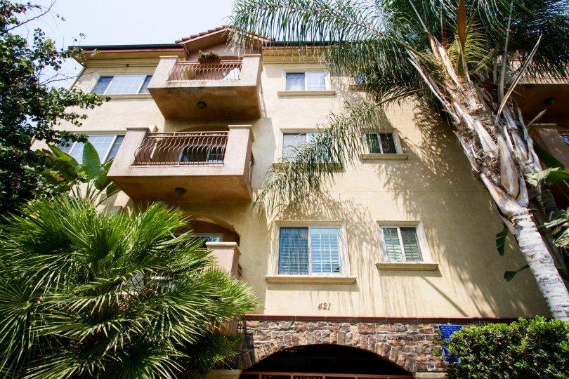 The balconies at the Burbank View in Burbank California