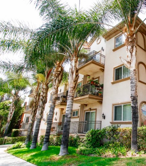 The Burbank Village Condominiums building in Burbank California