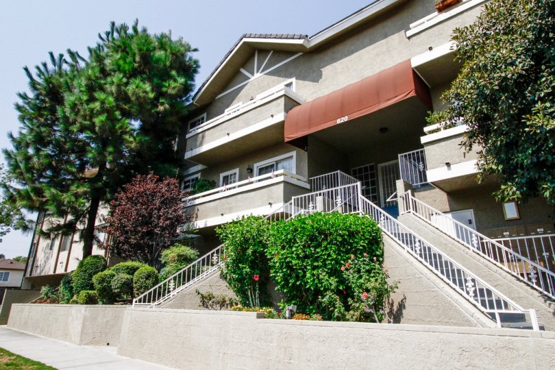 The balconies at Gateway Condos in Burbank California