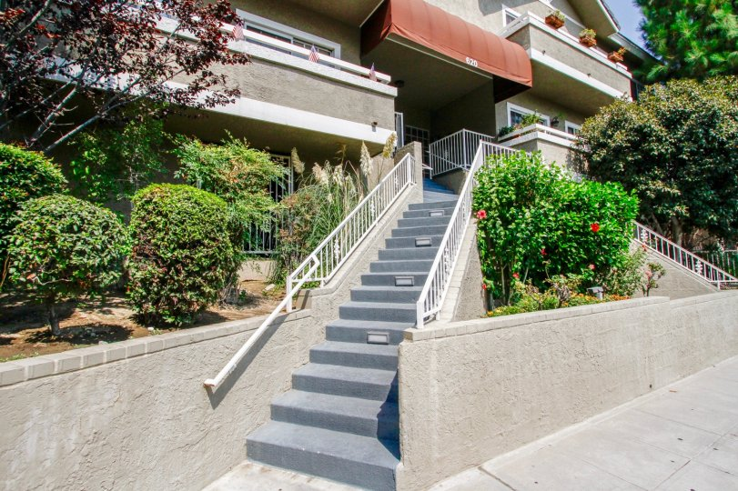 The stairs leading to the entrance of Gateway Condos