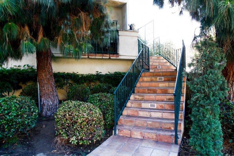 The stairs leading up to Niagara Townhouses