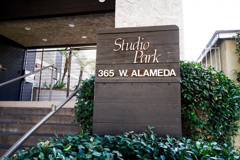 The Studio Park name at the entrance