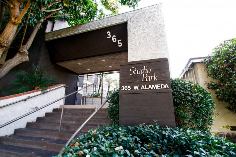The address of Studio Park at the entrance