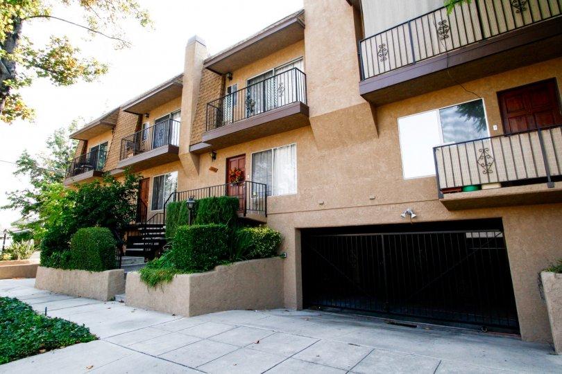 The balconise at Victory Villas II in Burbank California