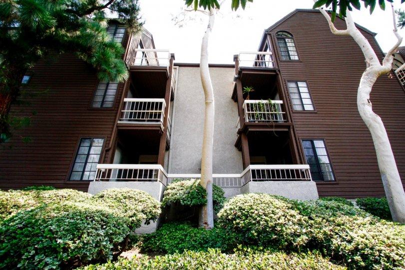 The balconies at Woodside Manor in Burbank California