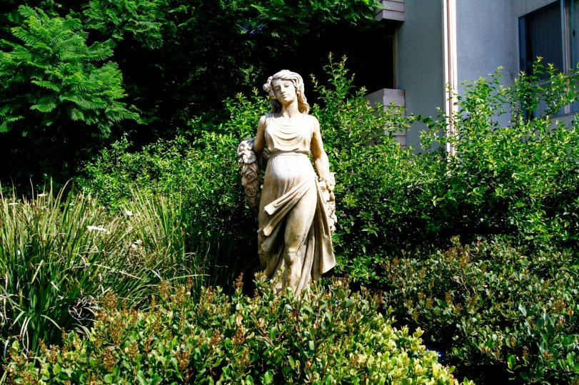 The statue seen at 7640 Oso Ave in Canoga Park California