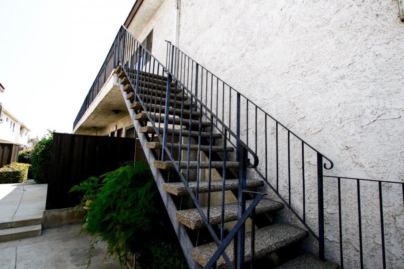 A side stairway at Independence Gardens in Canoga Park CA