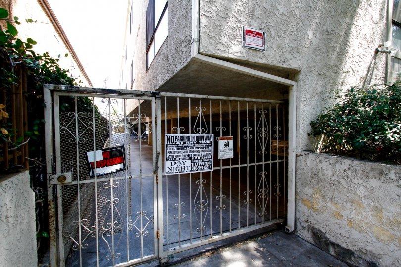 The gate into Jordan Condos