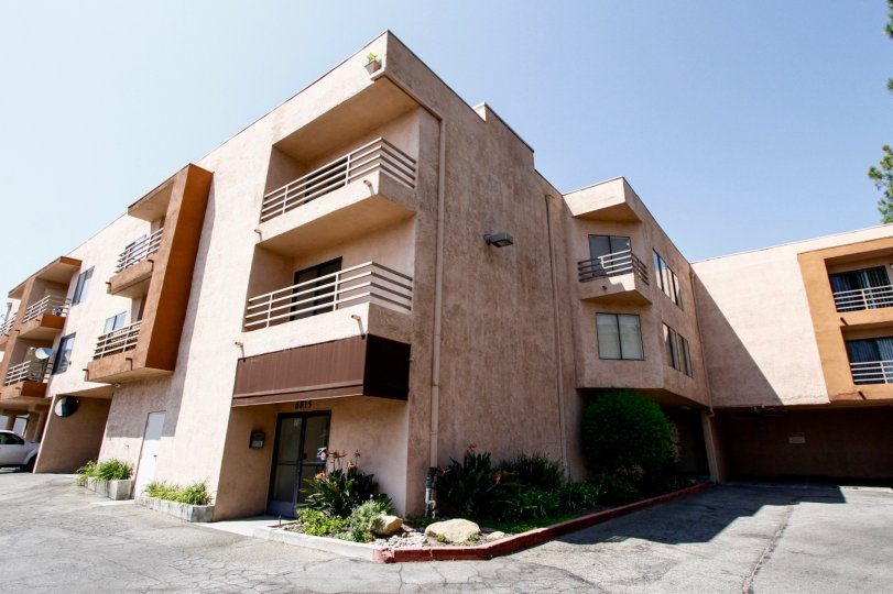 The architecture of the Remmet in Canoga Park California