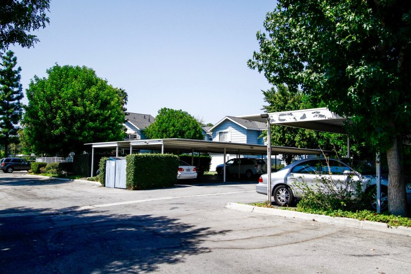 The covered parking for Shady Grove residents