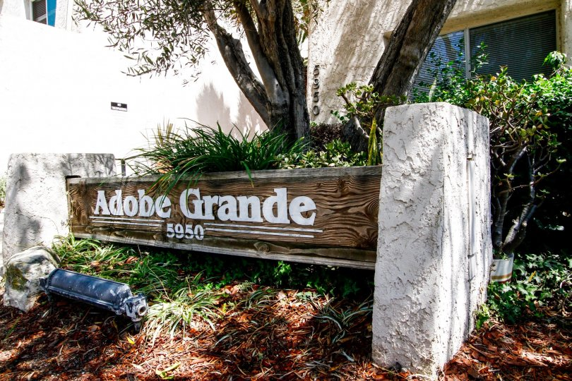 The welcoming sign into Adobe Grand in Culver City