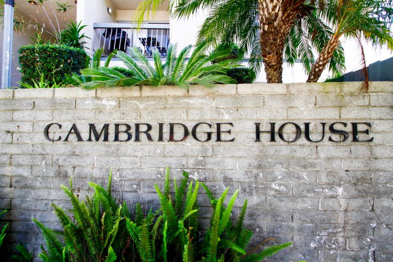 The sign welcoming you into Cambridge House in Culver City