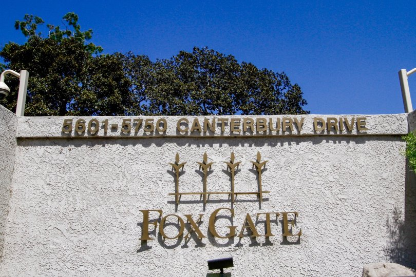 The sign into Foxgate in Culver City