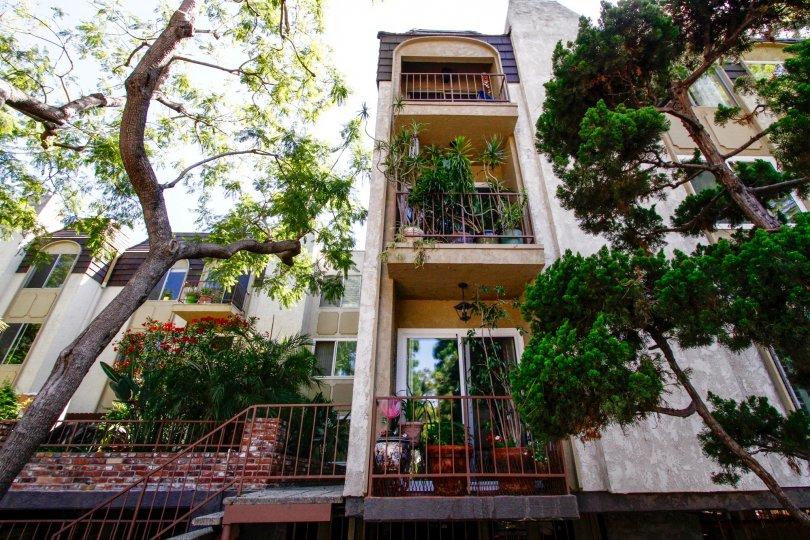The balconies at Green Valley Condominiums in Culver City