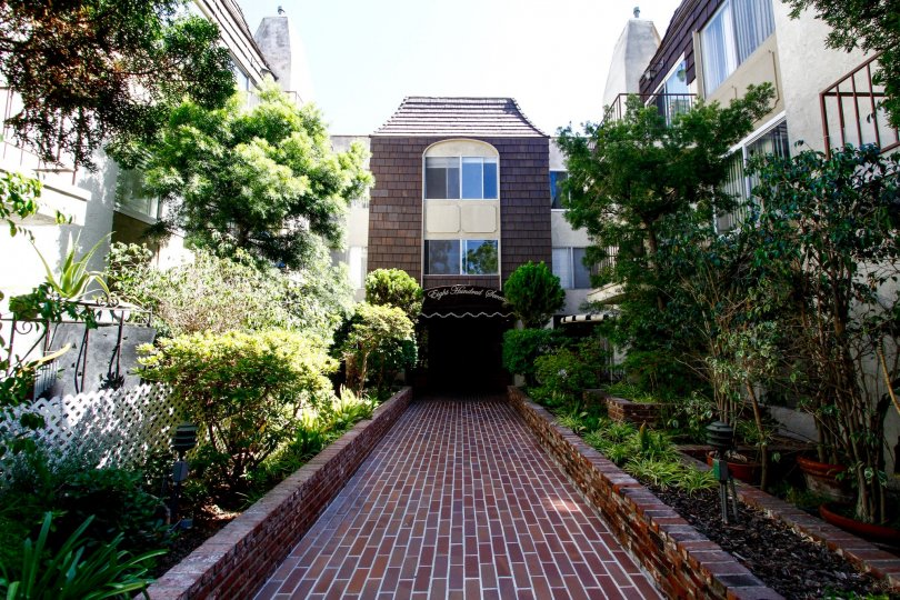 The walkway up to Green Valley Condominiums in Culver City