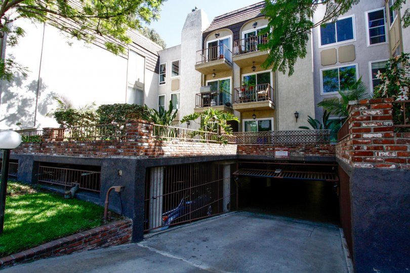 The garage at Green Valley Condominiums