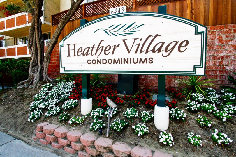The sign entering into Heather Village in Culver City