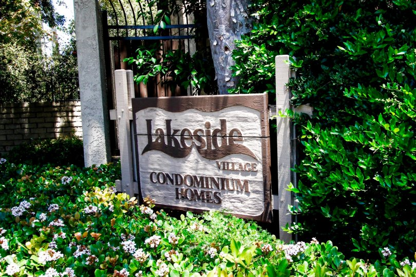 The sign announcing Lakeside Village in Culver City