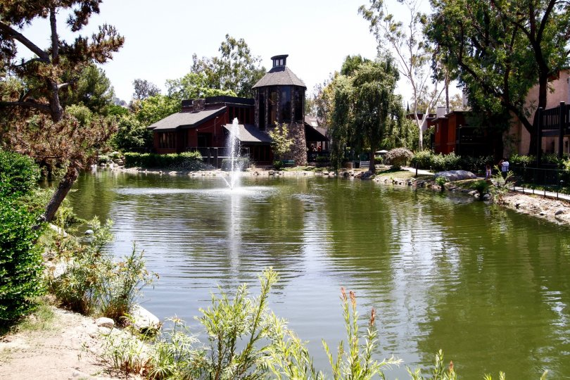 The lake at Lakeside Village in Culver City